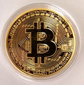 .999 Fine Gold Bitcoin Commemorative Round Collectors Coin