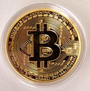 .999 Fine Gold Bitcoin Commemorative Round Collectors Coin